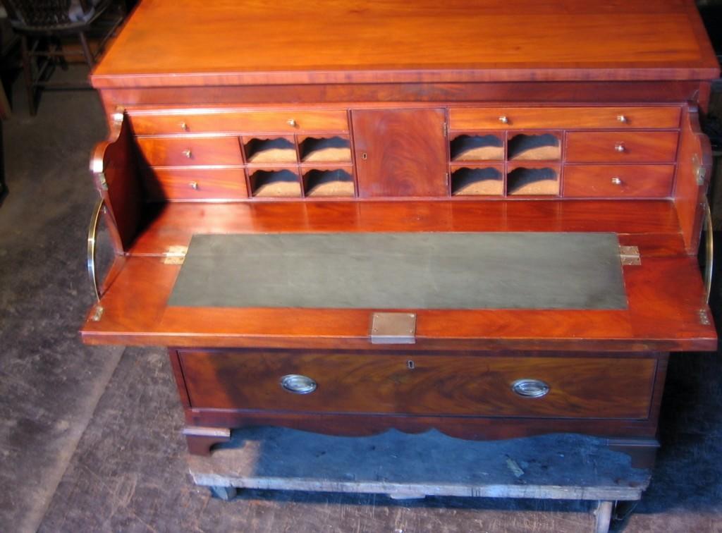 1818c Butler's Desk Restoration. Antique Furniture ... - Plum Studio - Antique Restoration Sensitive Furniture Repair