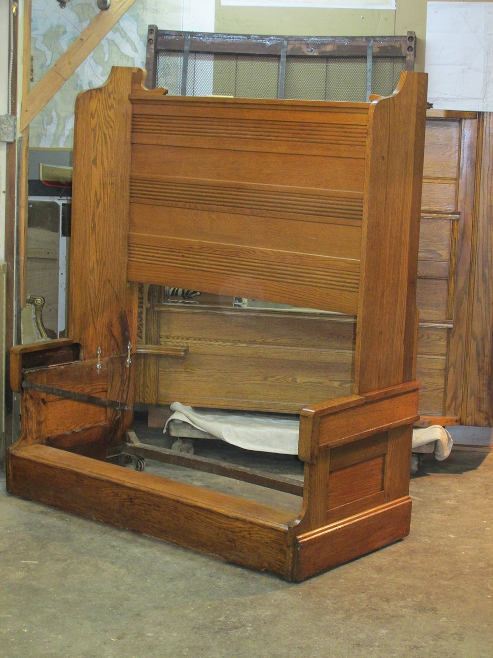 Folding bed restoration plum studio furniture restoration for Furniture refinishing seattle