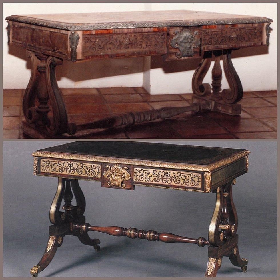 Restoring Antique Leather Specialty Finish Furniture Wood Restoration Plum Studio